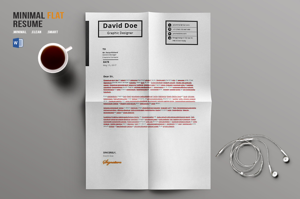 flat resume design flat resume design