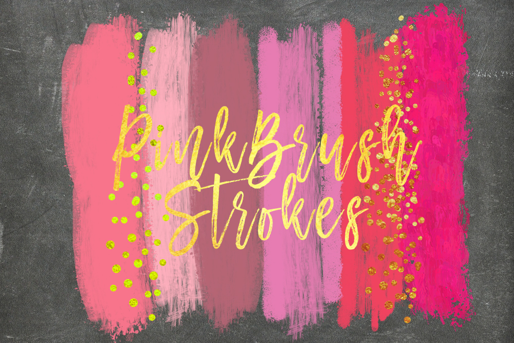 pink brush strokes, watercolor pink and pearl glitter, shimmering sparkle brush, Blush Pink Glam Paint Strokes Clipart, pink png overlays example image 2