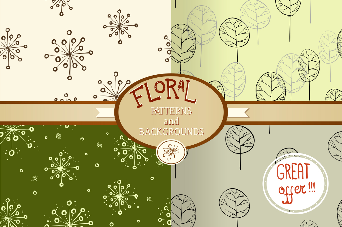 Floral patterns and backgrounds example image 1