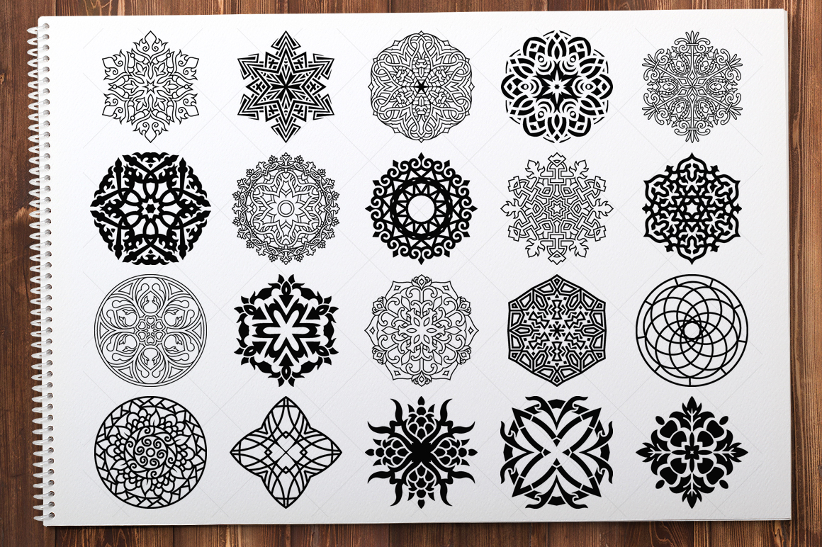 500 Vector Mandala Ornaments example image 3