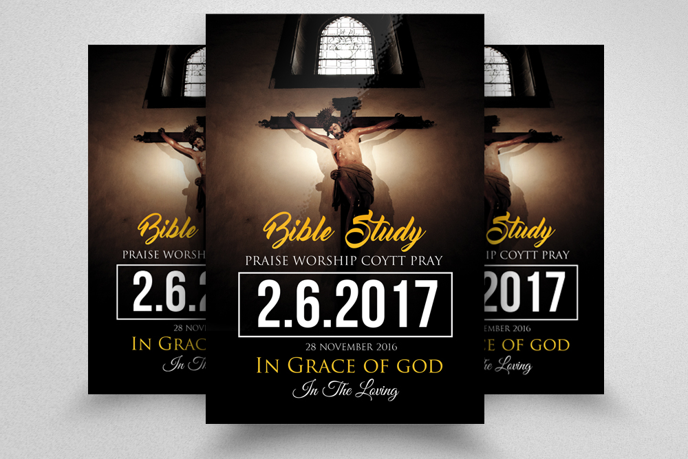 Jesus Church Flyer Templates By Designh  Design Bundles