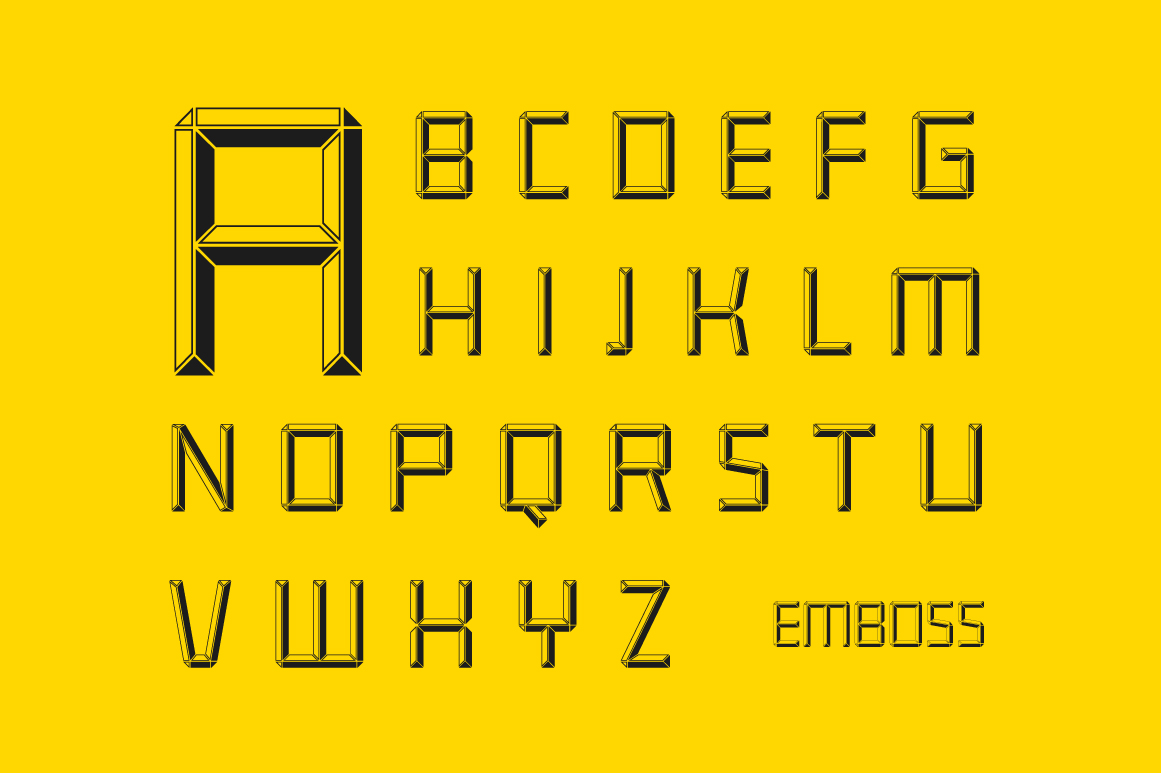 Construct family font example image 2