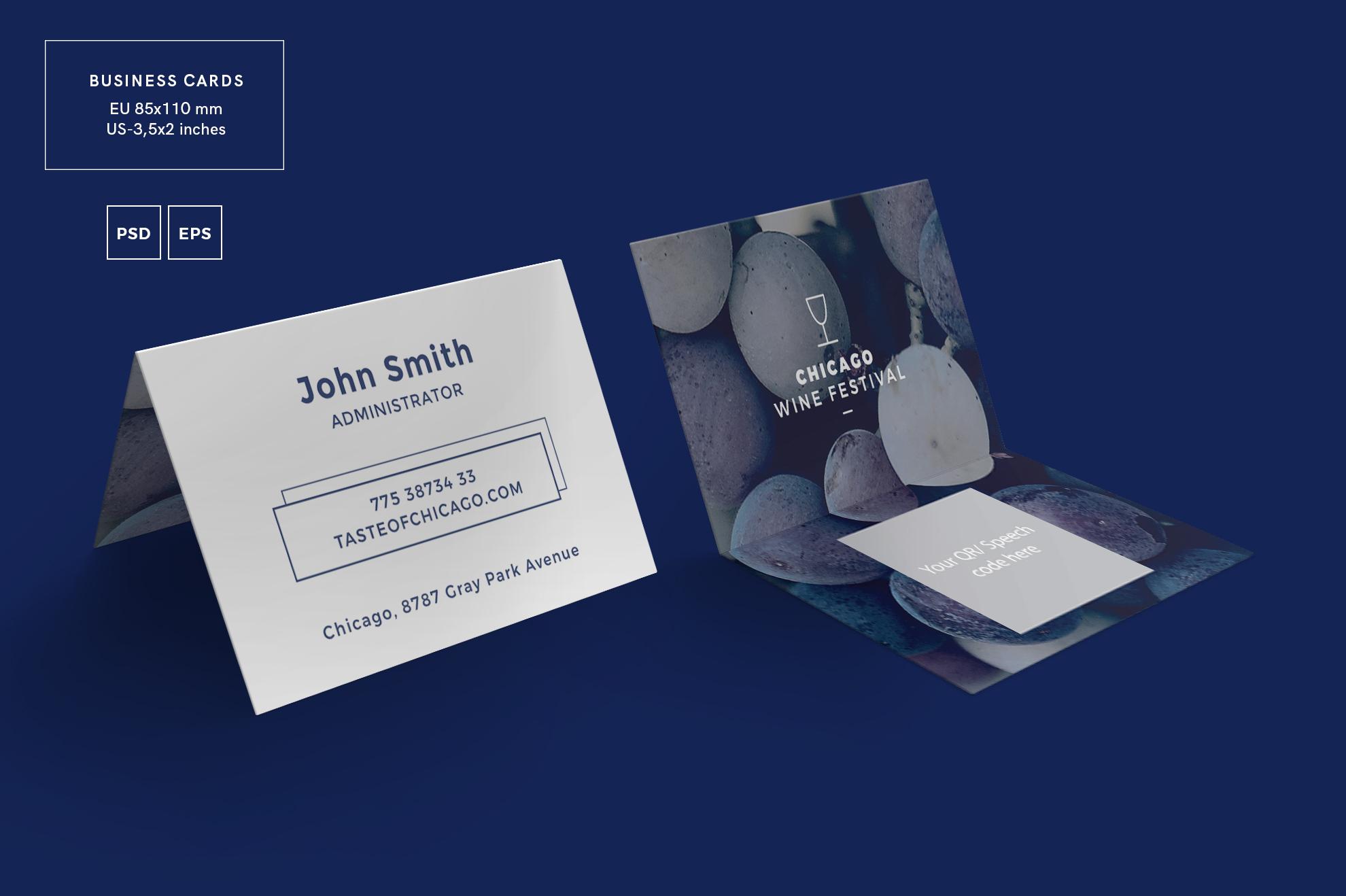 Wine Festival Business Card Design Temp | Design Bundles