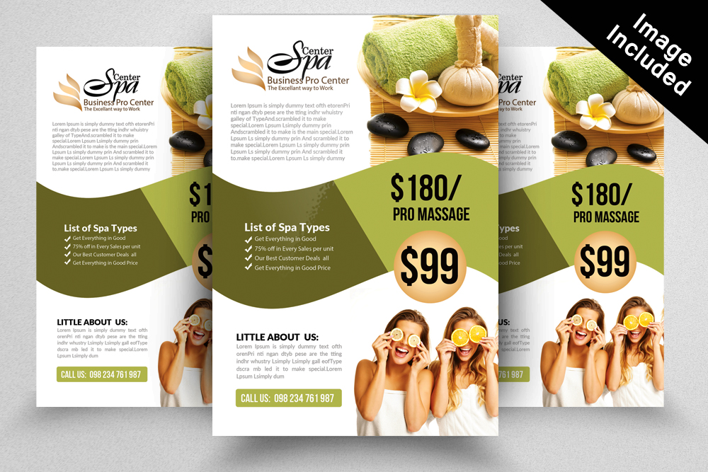 Elegant Spa Flyer Templates By Designhu Design Bundles