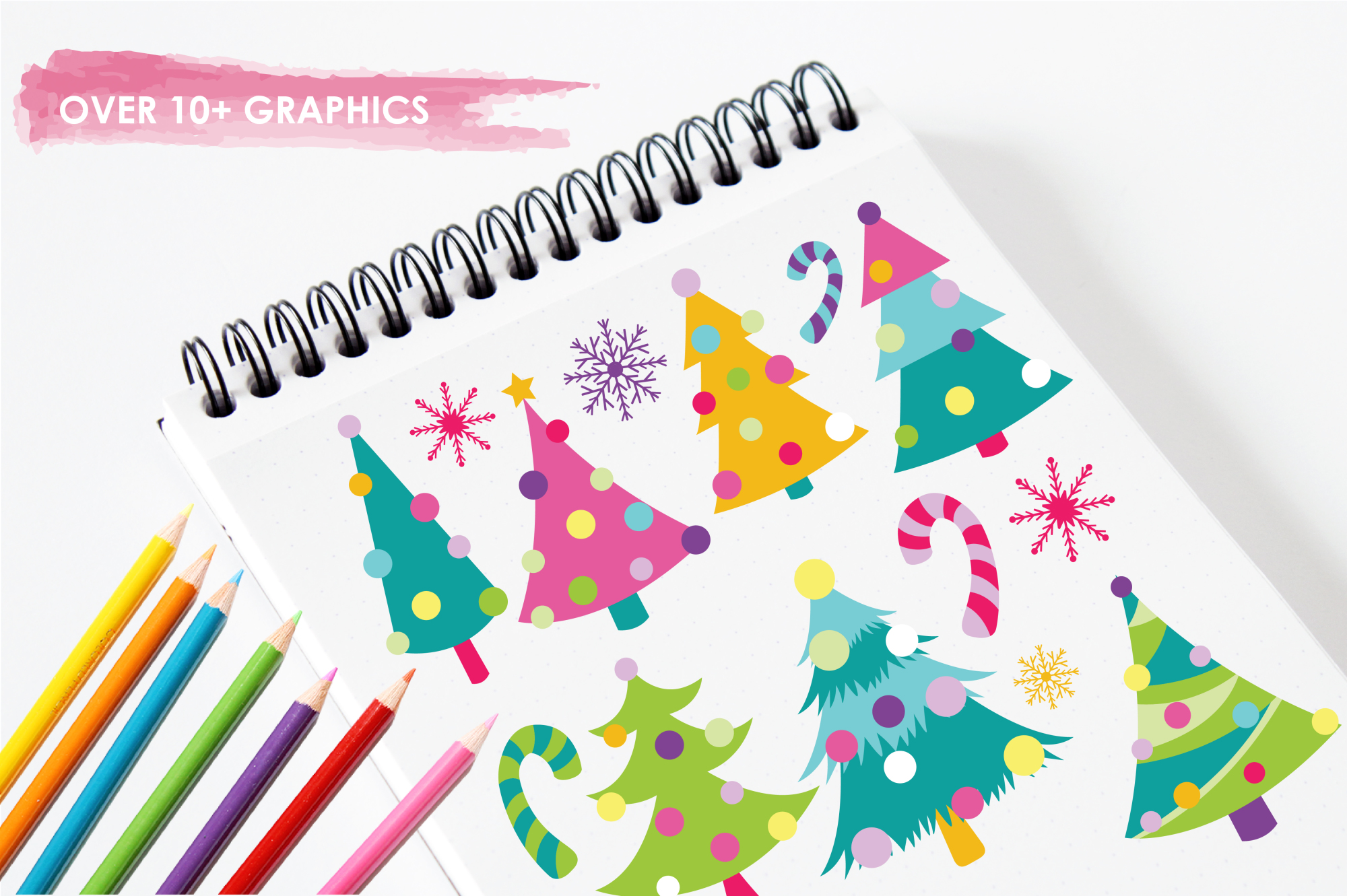 Christmas Trees graphics and illustrations example image 3