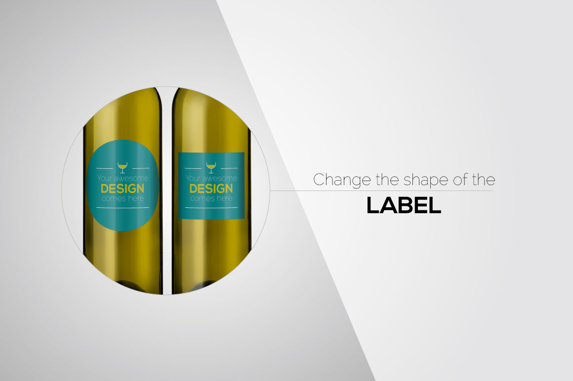 All-In-One Wine Bottle Mockup example image 7