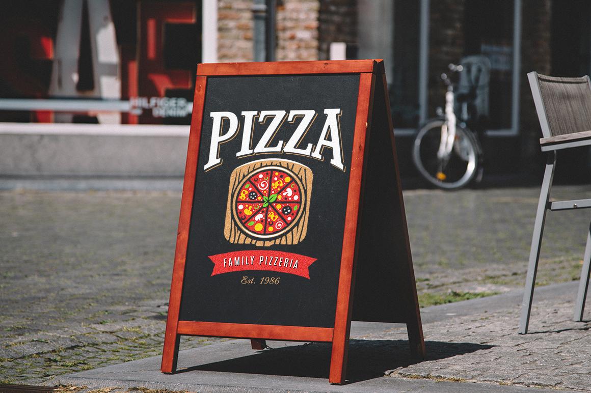 Pizza Logo Templates example image 9