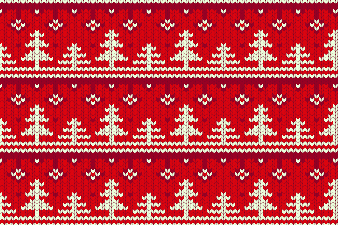 Christmas Seamless Knitting Pattern example image 2