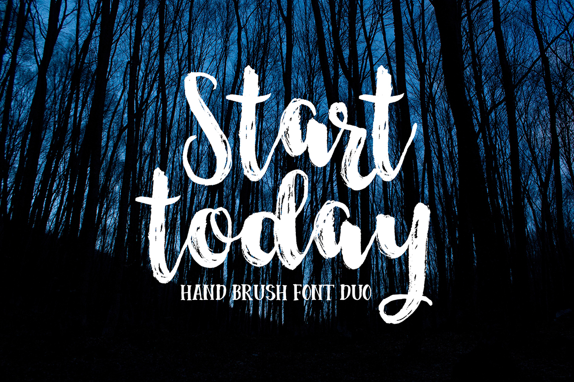 Start Today - Brush Font Duo example image 1