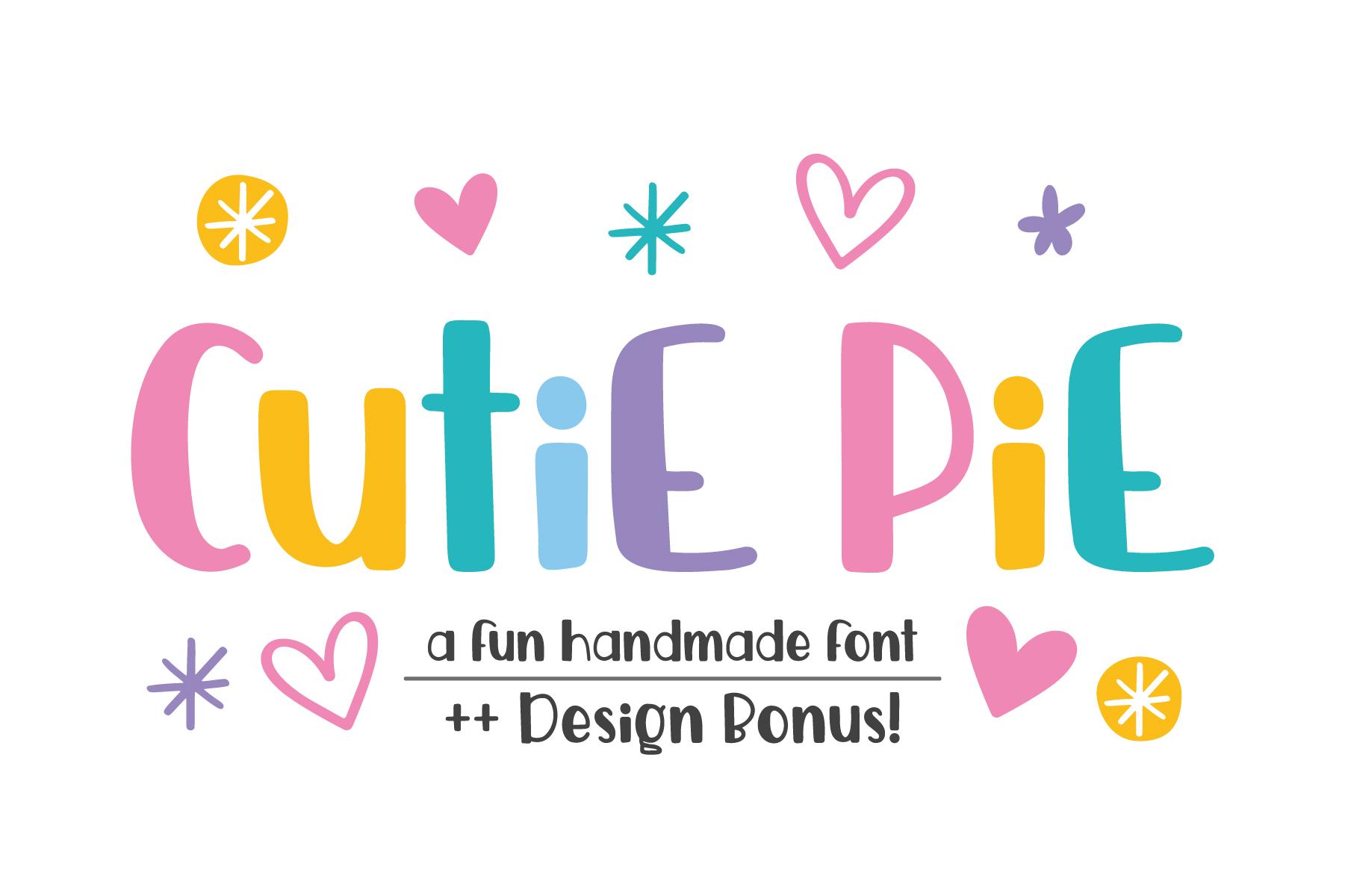Cutie Pie Font ++ Designs Bonus!  example image 1