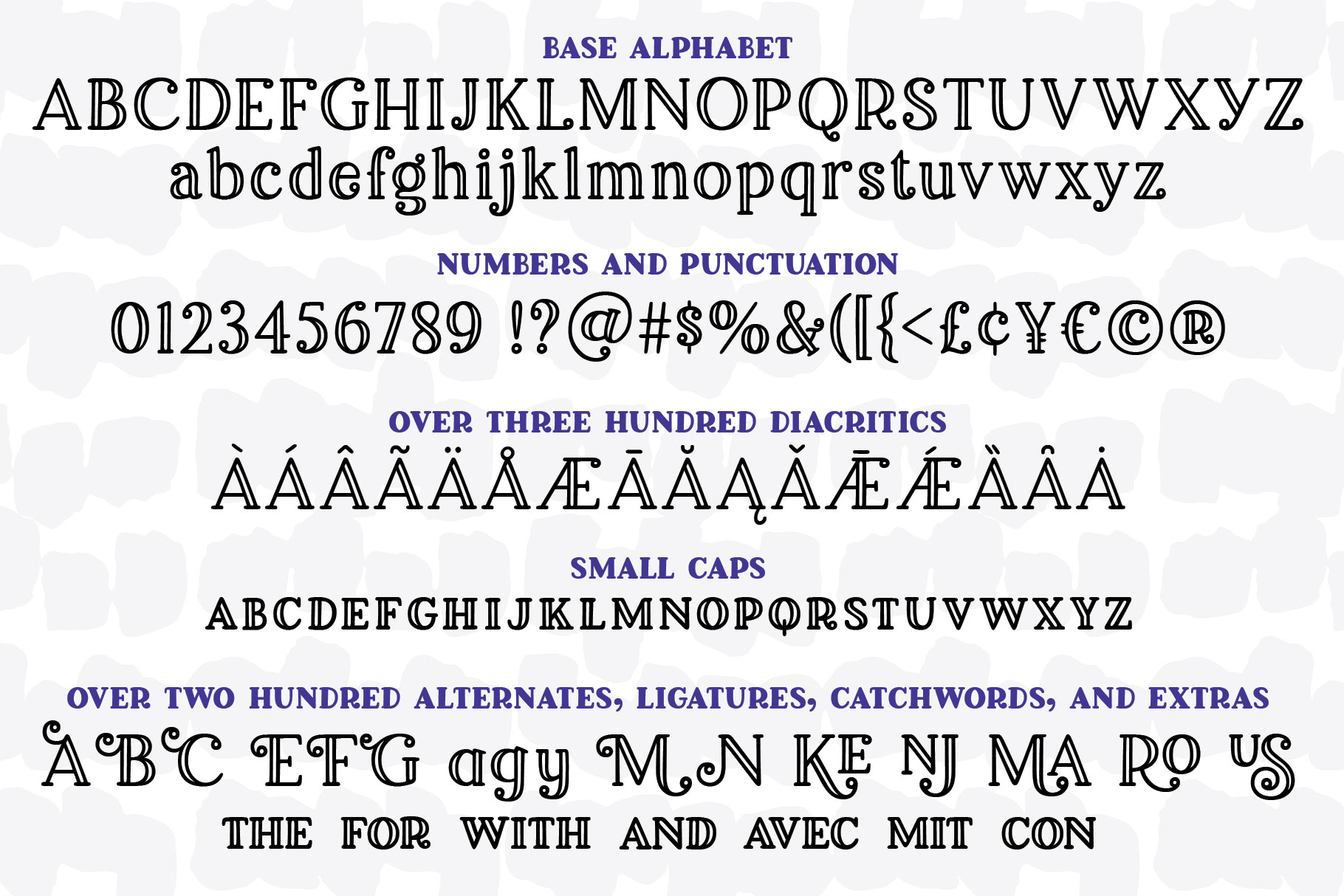 Breakfast Pastry: a decorative font family! example image 2