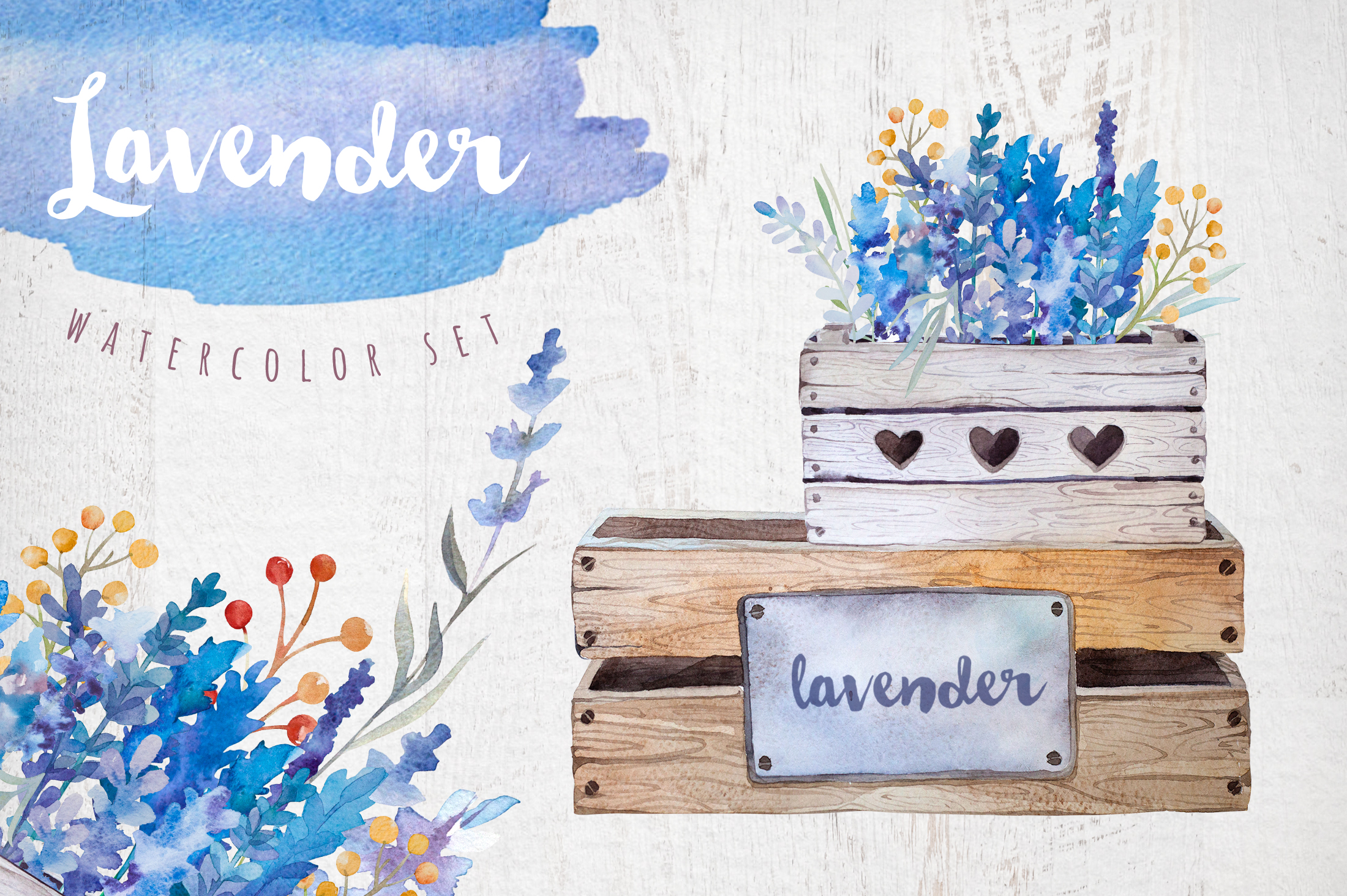Lavender watercolor DIY example image 1