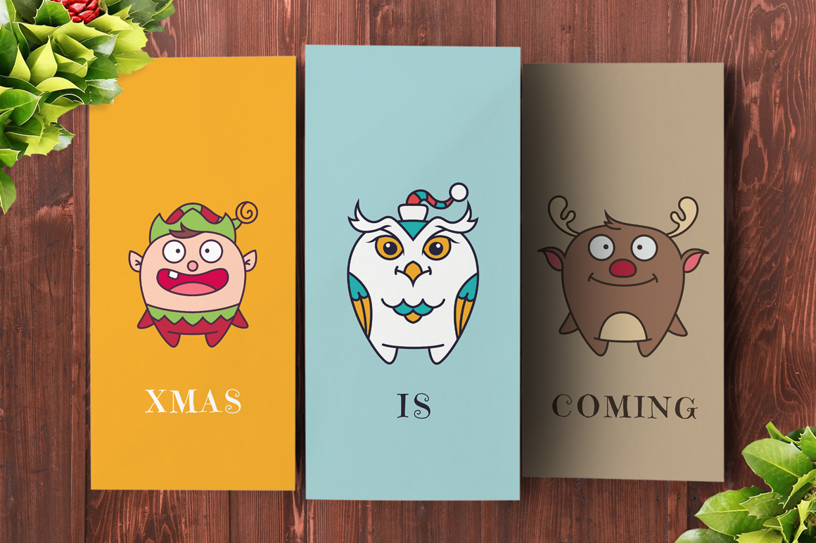 Cute Flat Christmas Characters Vol.1 example image 5