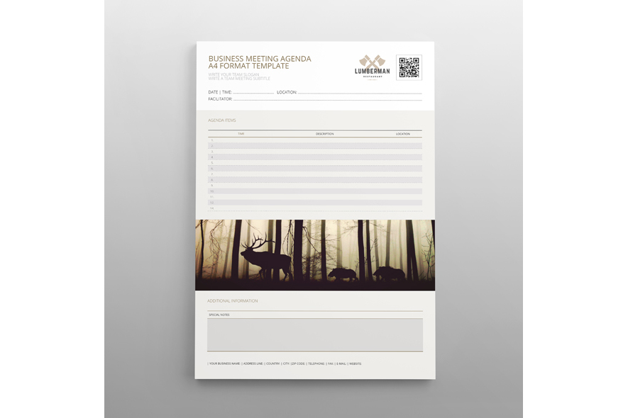 Business Meeting Agenda A4 Format Template example image 6
