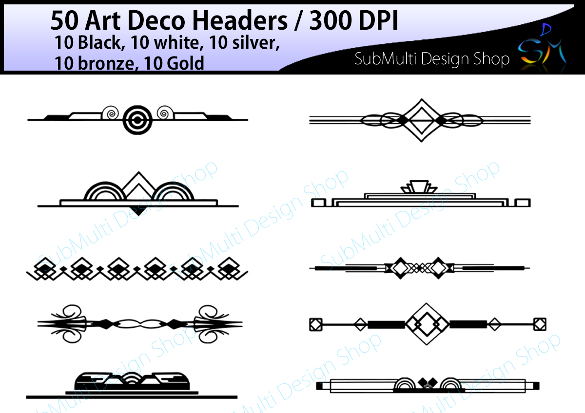 art deco art deco headers art deco design bundles rh designbundles net art deco clipart of for card making to sell art deco clipart of commercial greeting cards