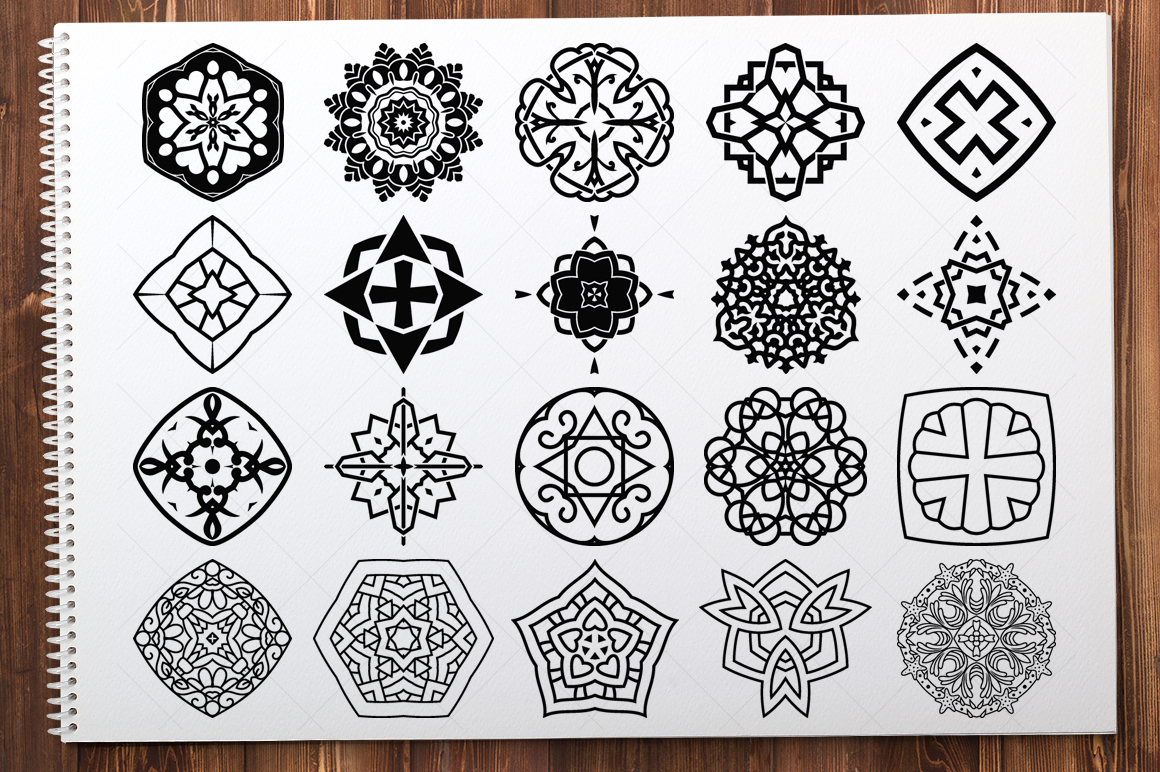 500 Vector Mandala Ornaments example image 24