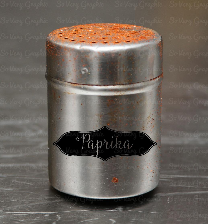Vintage Spice Jar Label Set of 32 | SVG Cutting Files example image 2