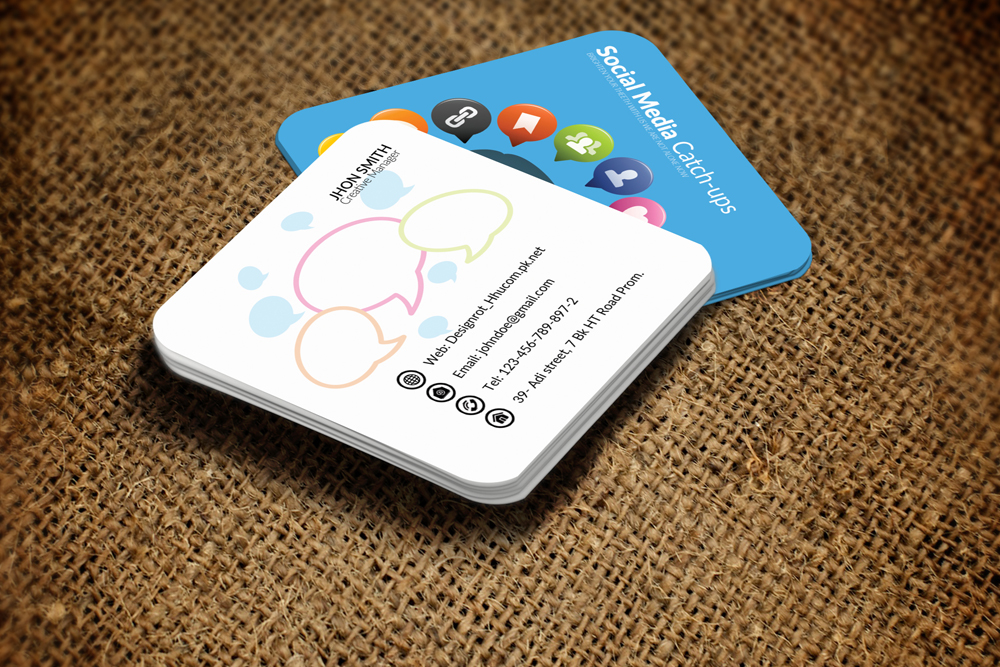 Social Media Small Business Cards by De | Design Bundles