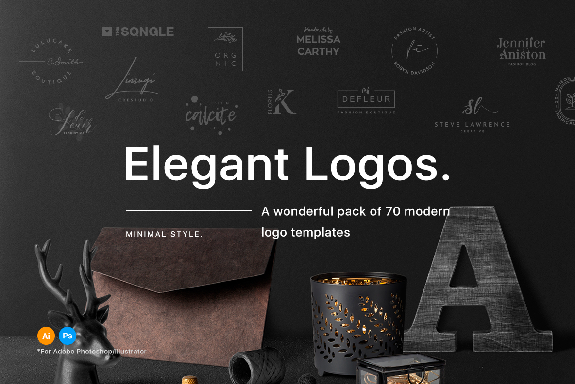 70 Elegant Logos (Extended License) example image 1