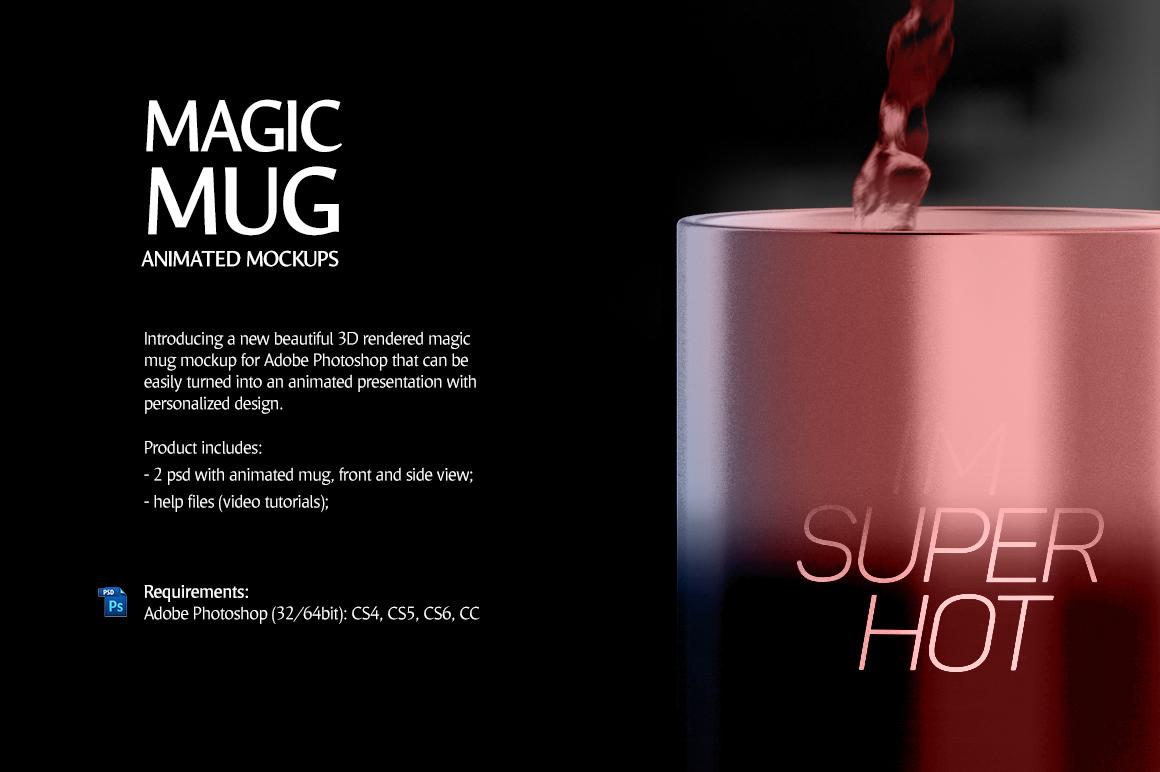 Magic Mug Animated Mock up (Color Changing Morphing Magical Mug Mockup) example image 2