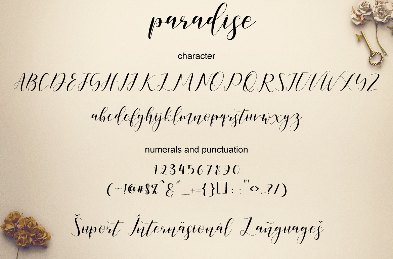 paradise calligraphy modern example image 7