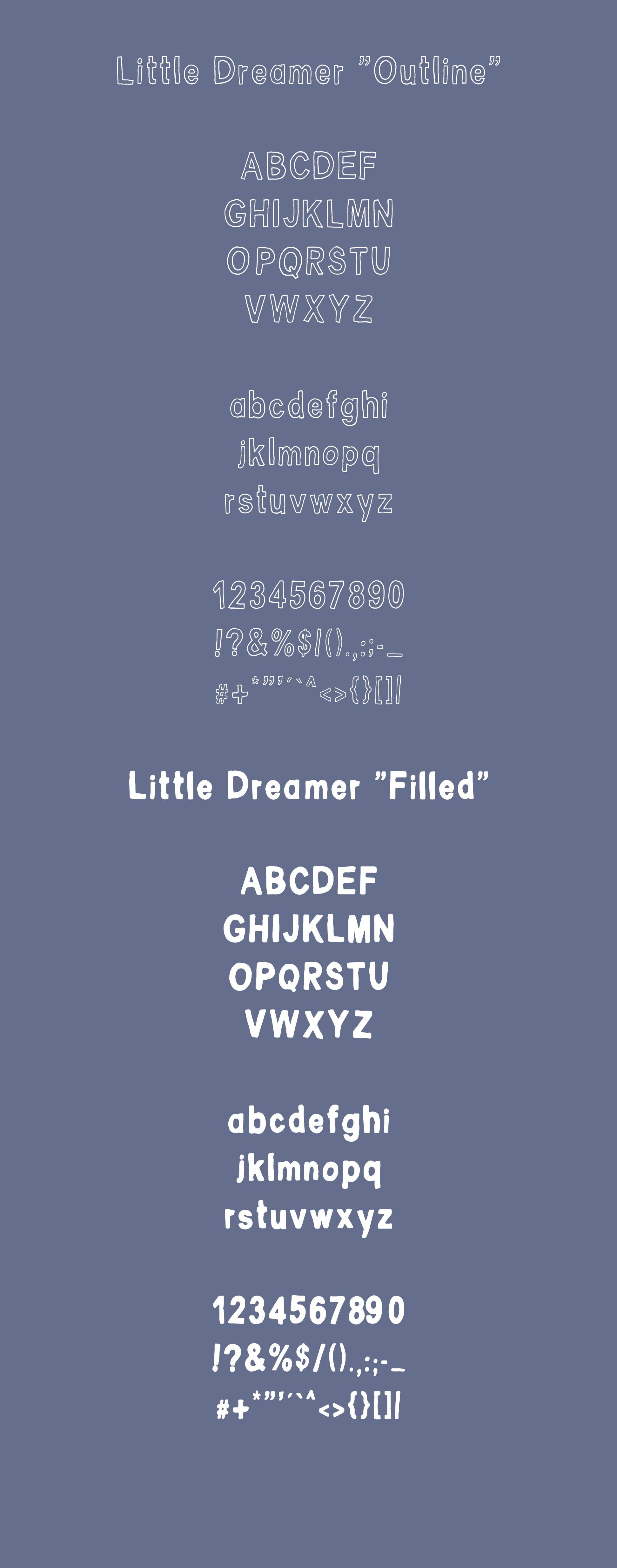 Little Dreamer Font Duo example image 7