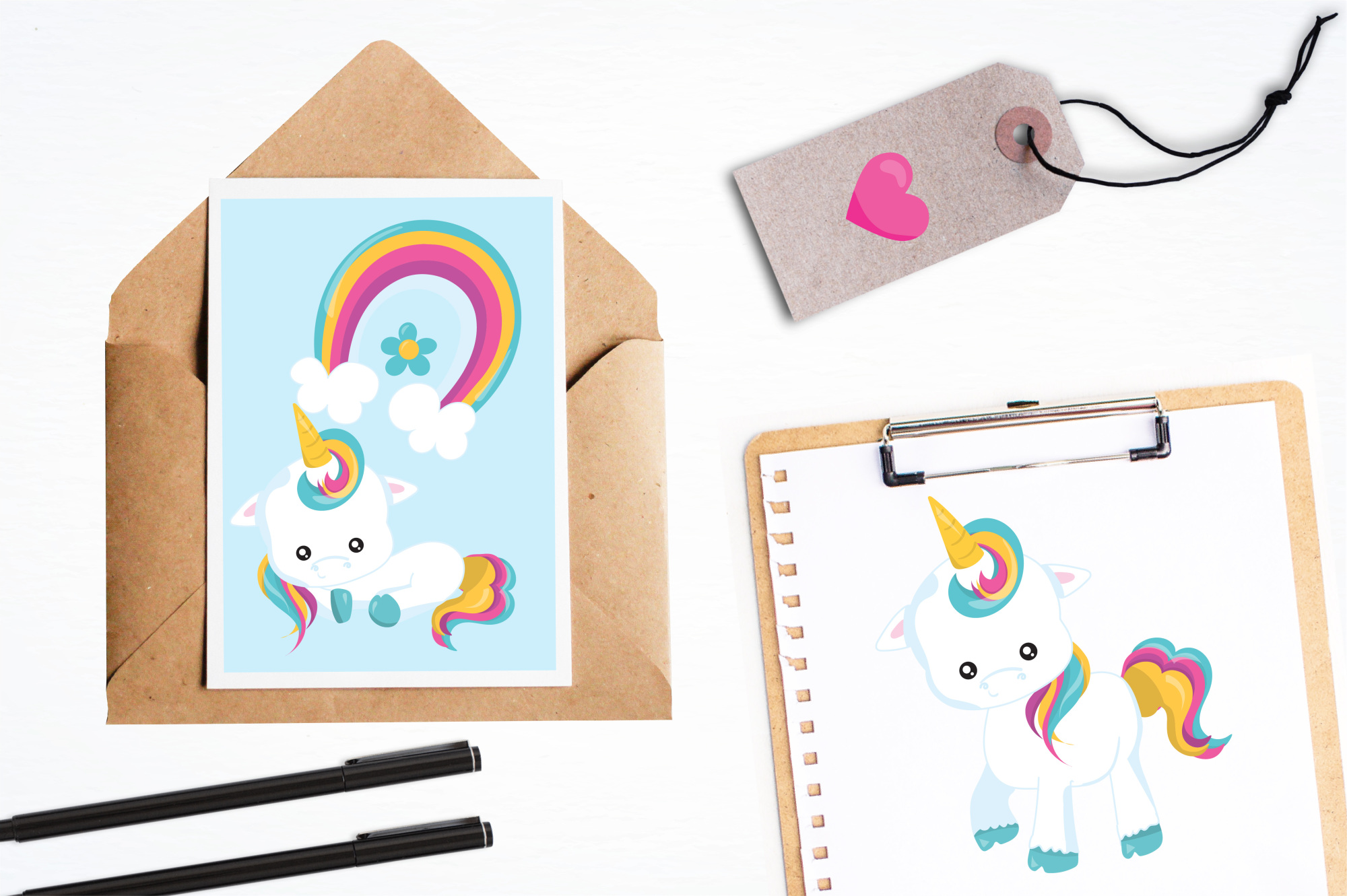 Baby Unicorn graphics and illustrations example image 4