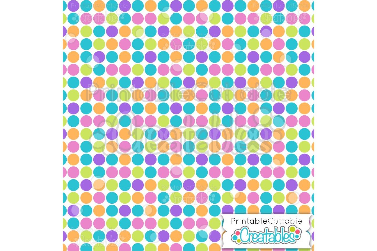 Large Dots Birthday Digital Paper & Seamless Pattern