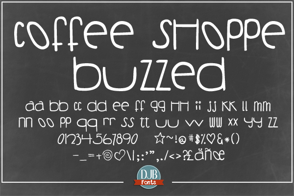 DJB Coffee Shoppe Font Bundle example image 3
