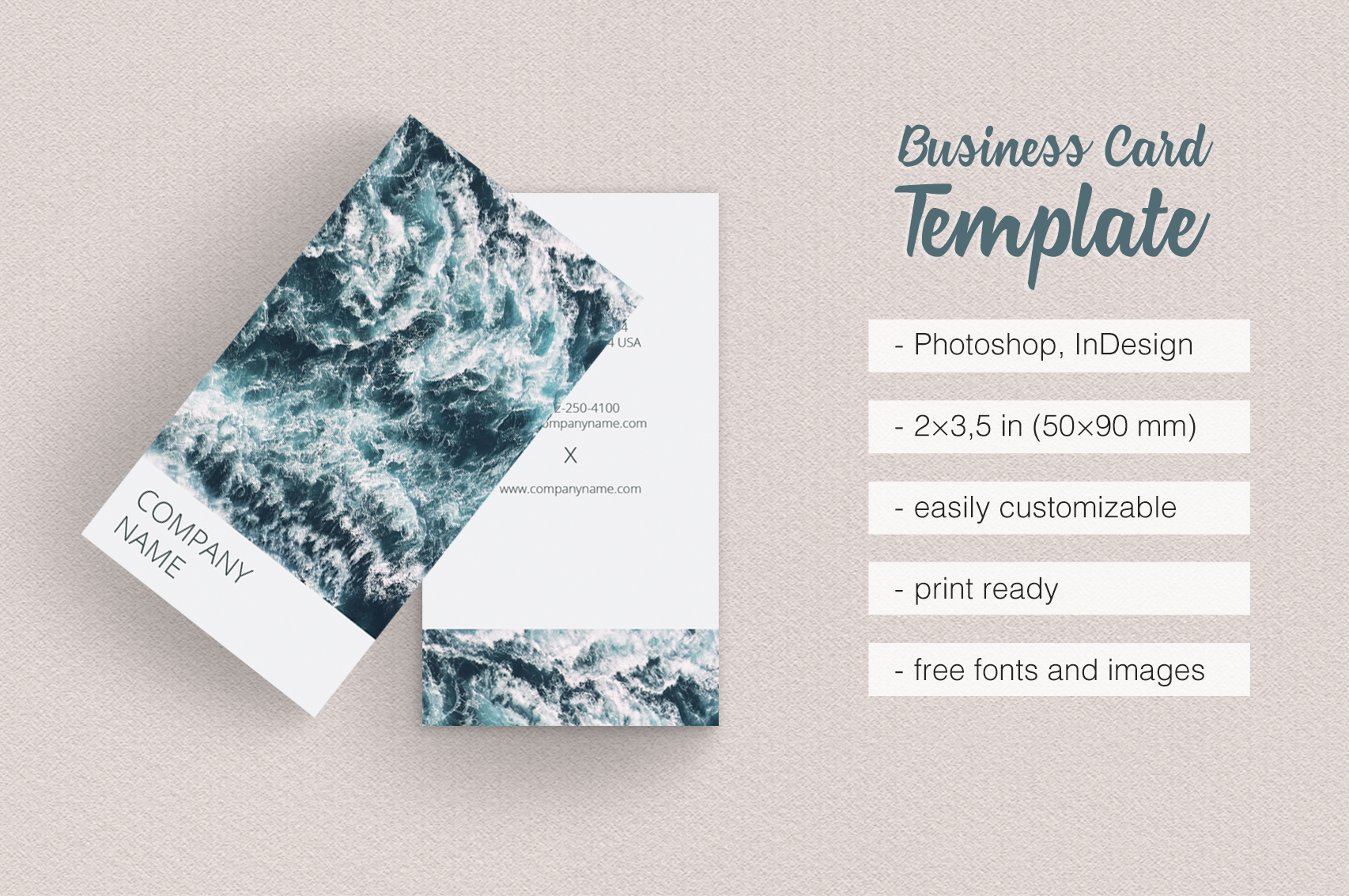 Vertical Photographer Business Card By Design Bundles - Photography business card template photoshop