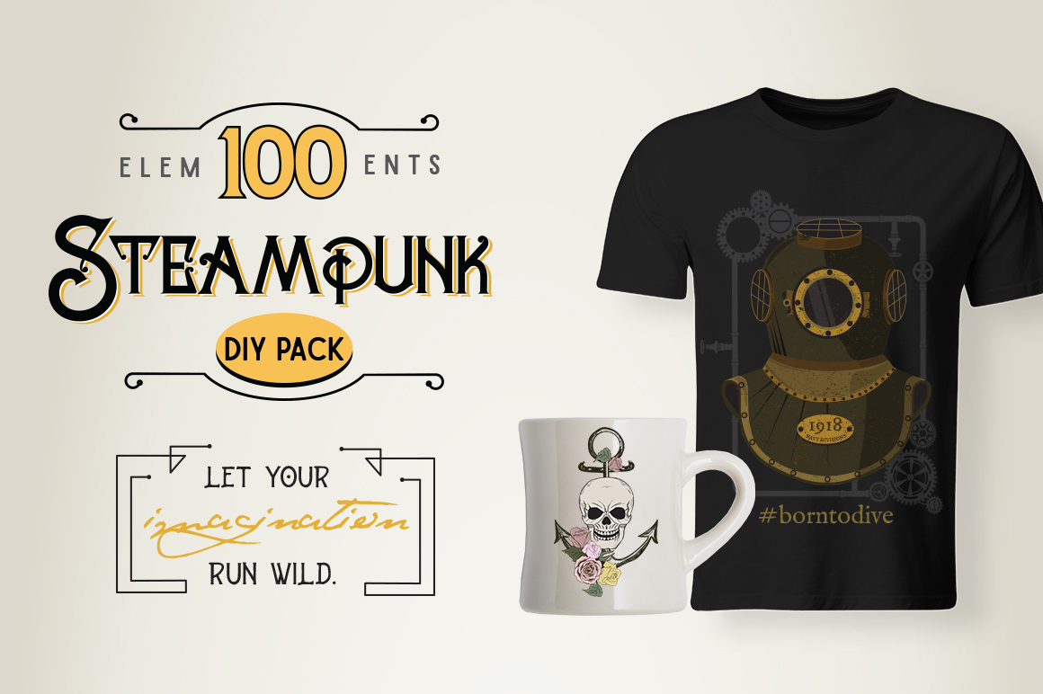 STEAMPUNK Bundle example image 12
