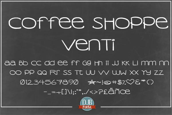 DJB Coffee Shoppe Font Bundle example image 4