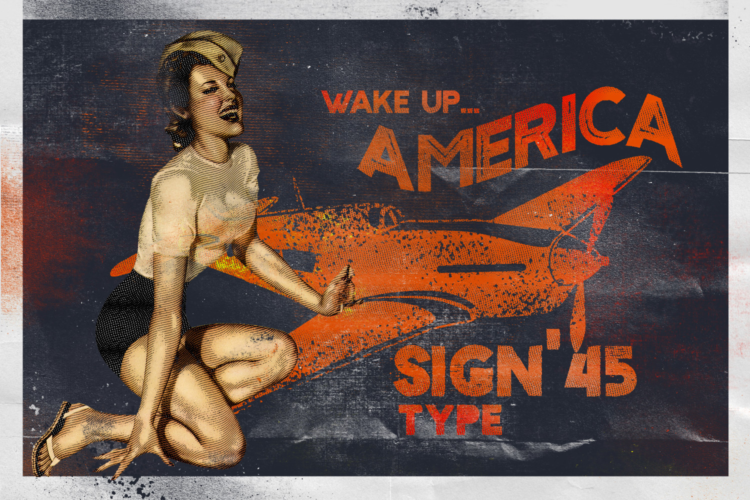 Sign '45 Typeface example image 5