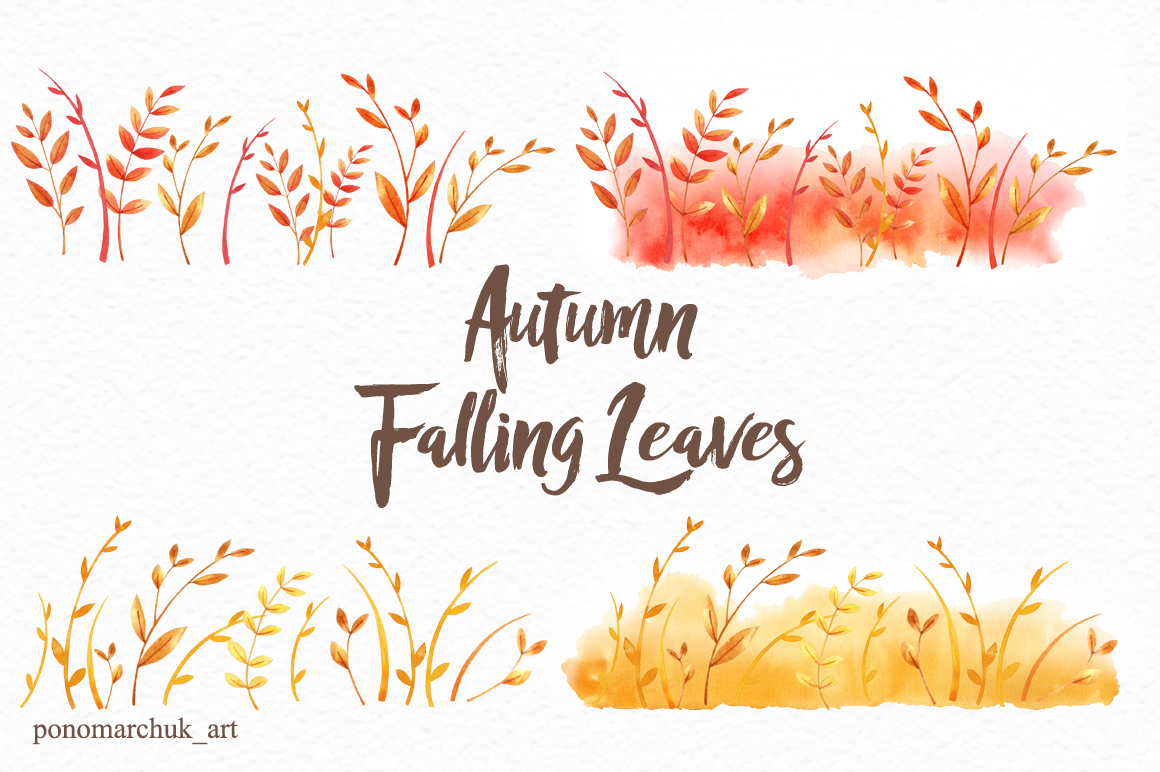 Autumn falling leaves example image 10
