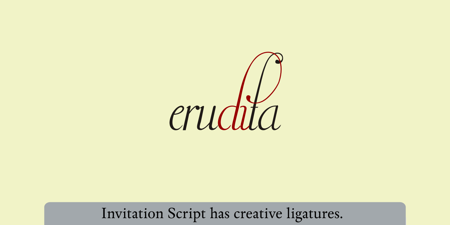 Invitation Script Pack (4 fonts) example image 19