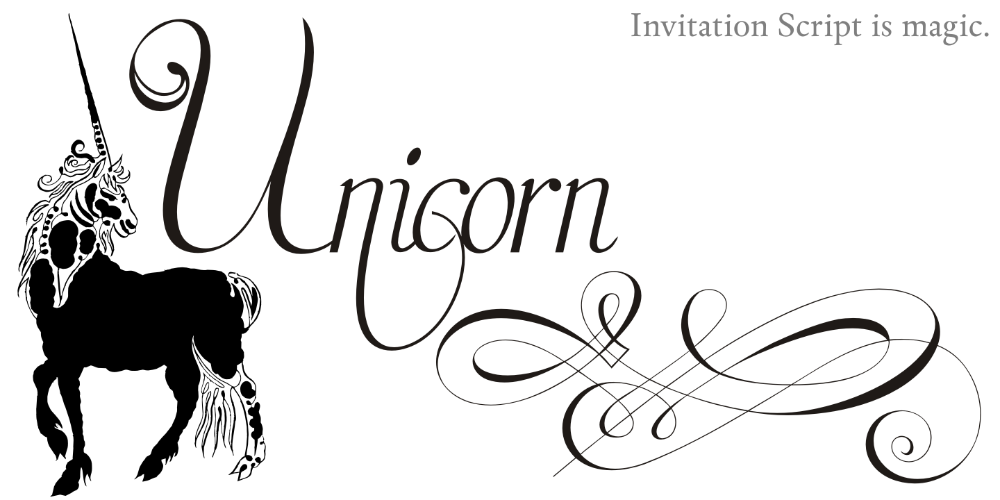 Invitation Script Pack (4 fonts) example image 5