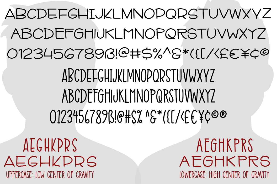 Mr. Stretch & Mr. Stout Font Duo example image 2