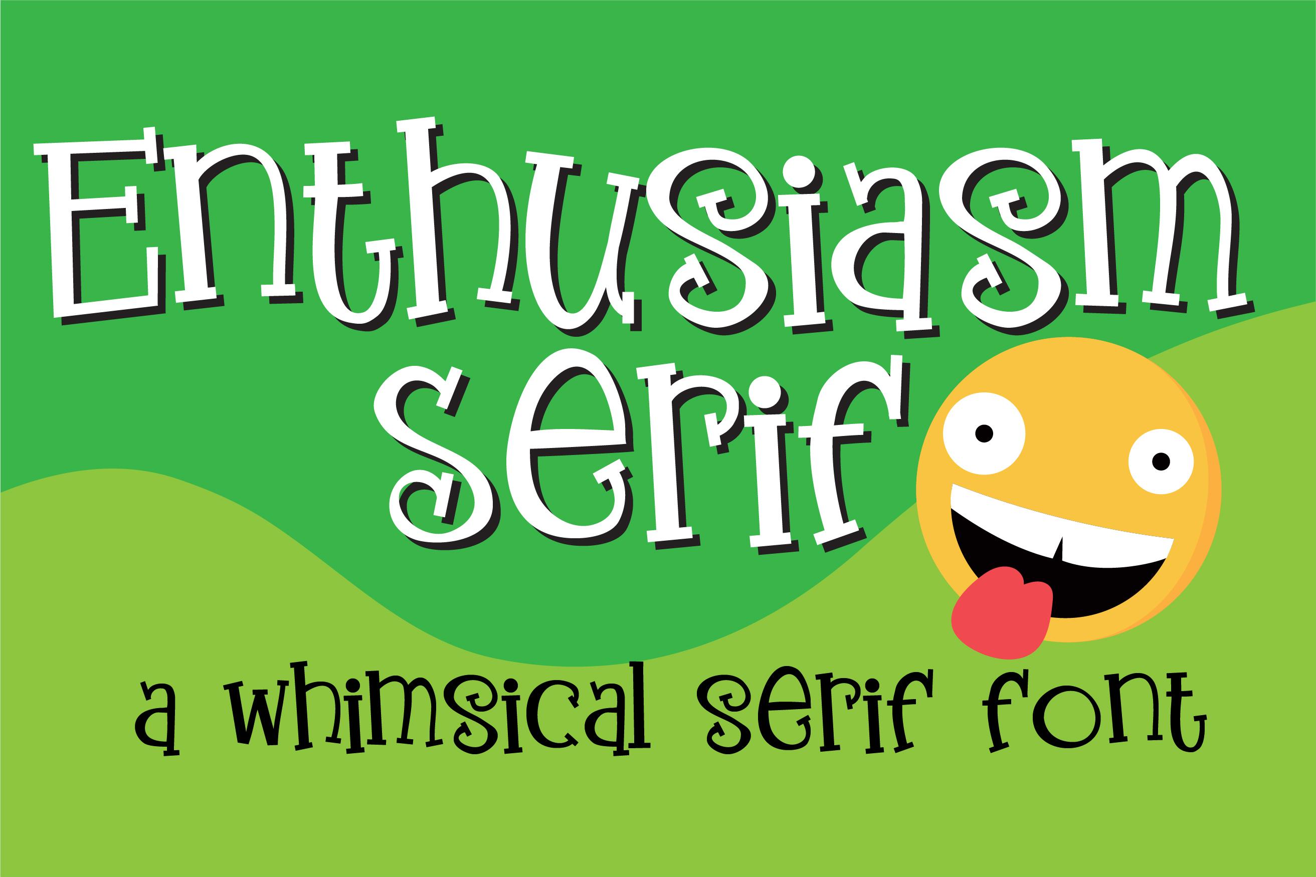 ZP Enthusiasm Serif example image 1
