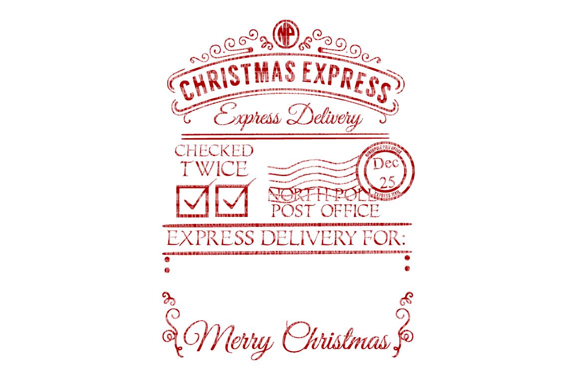 christmas vectors for santa sacks letter from santa santas address santa label stamp north pole address - From Santa