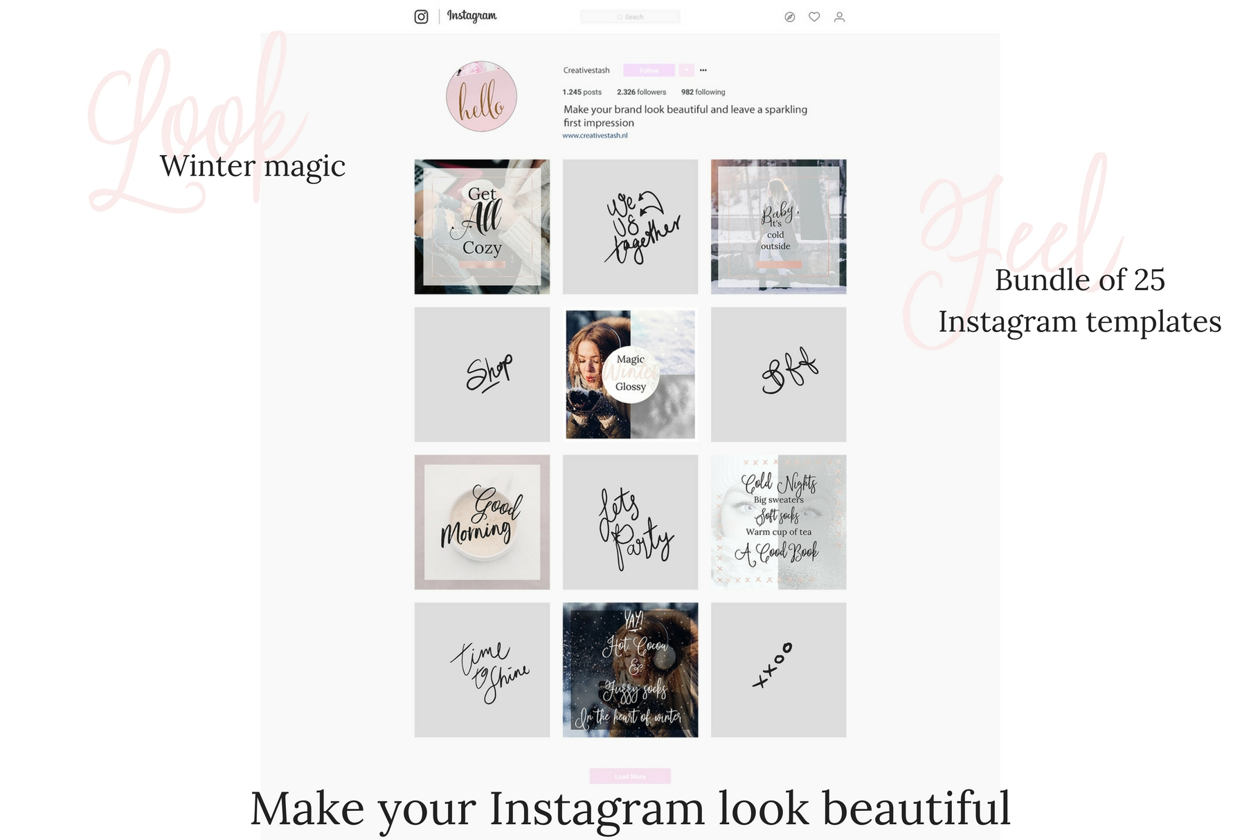 Instagram winter bundle example image 2
