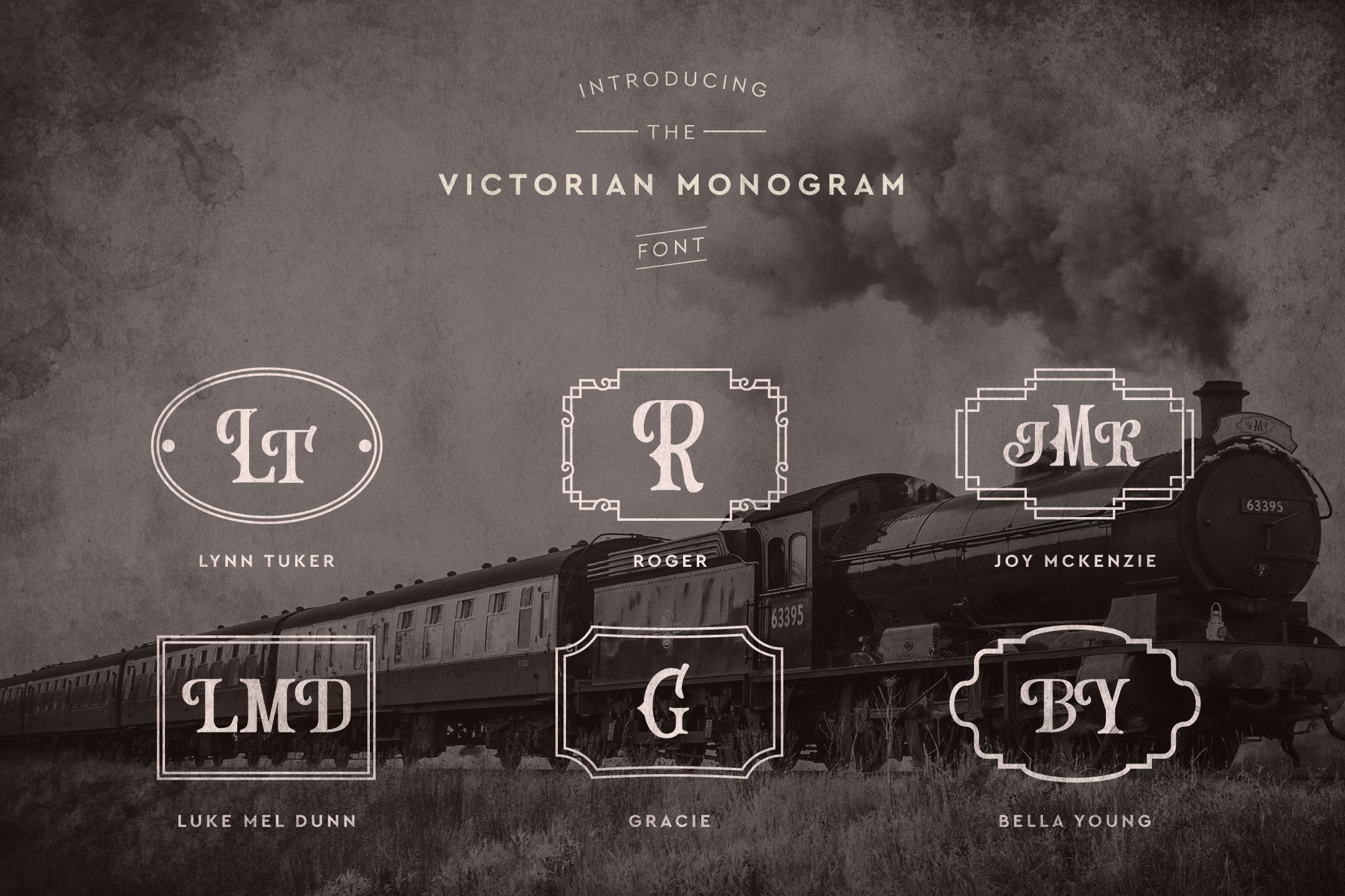 Victorian Monogram Font example image 2