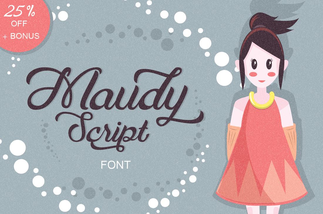 Maudy Script + Bonus example image 1