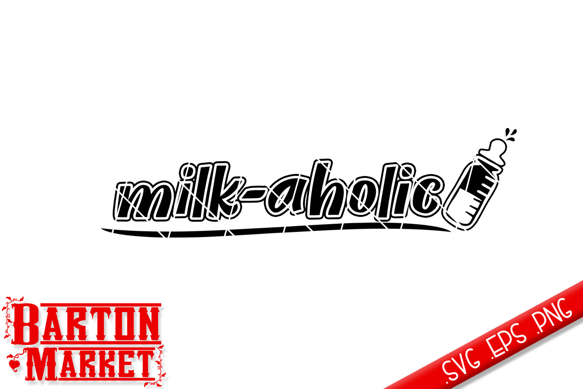 Milk-aholic V1 SVG / EPS / PNG example image 2