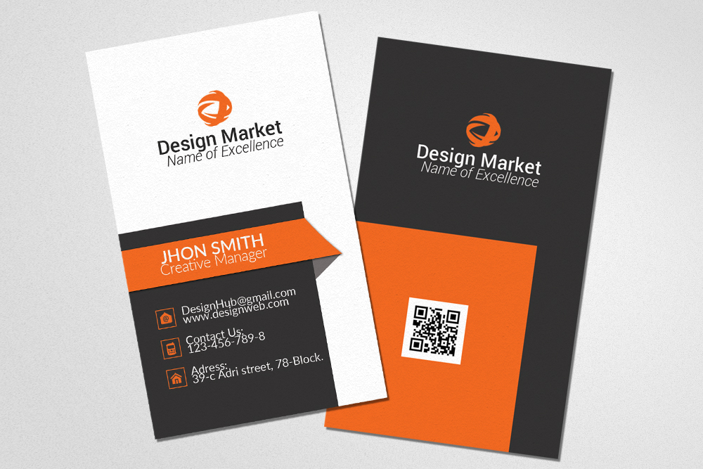 Professional vertical business cards by design bundles professional vertical business cards example image 1 reheart Gallery