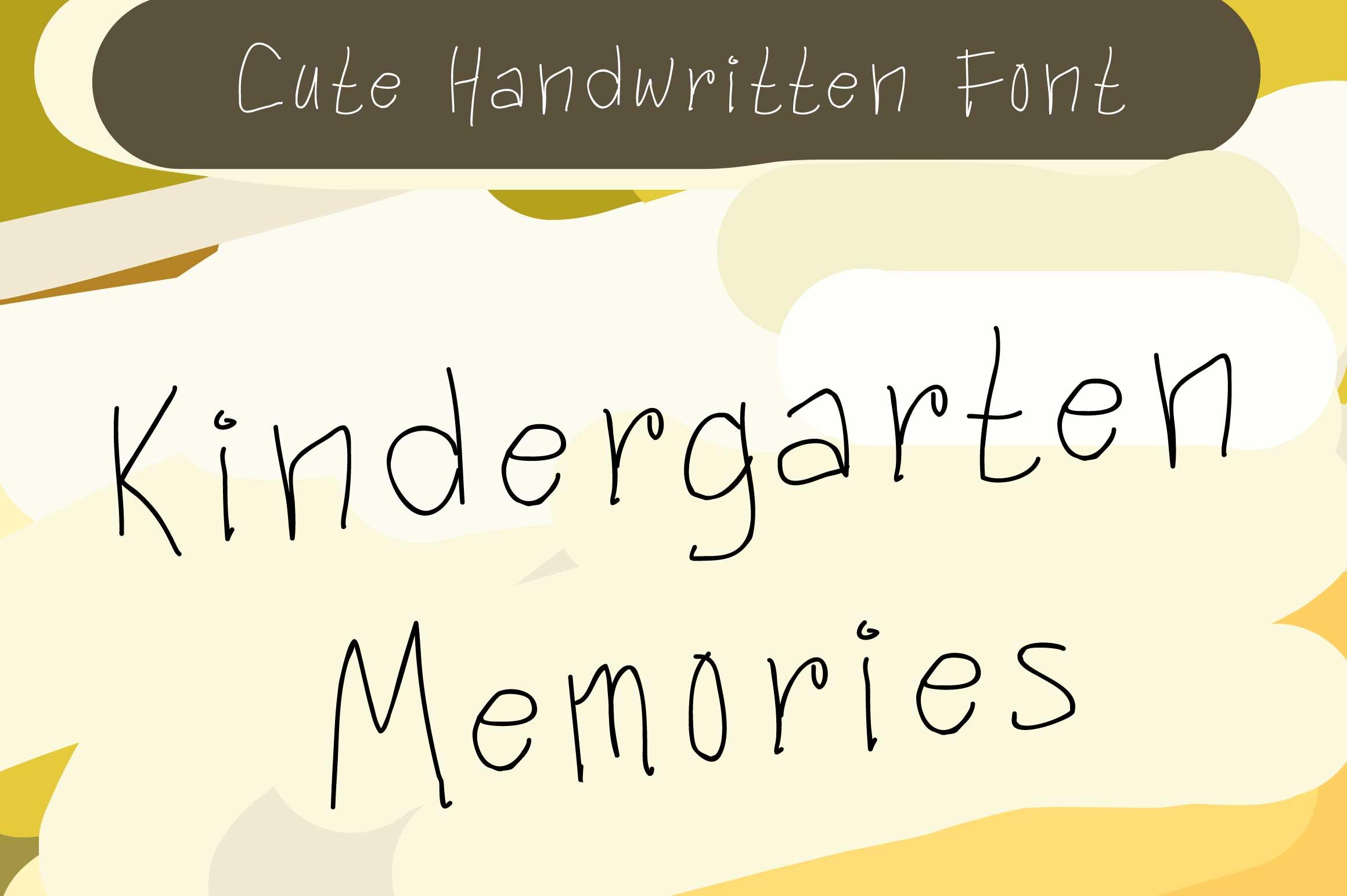 Kindergarten Memories example image 1