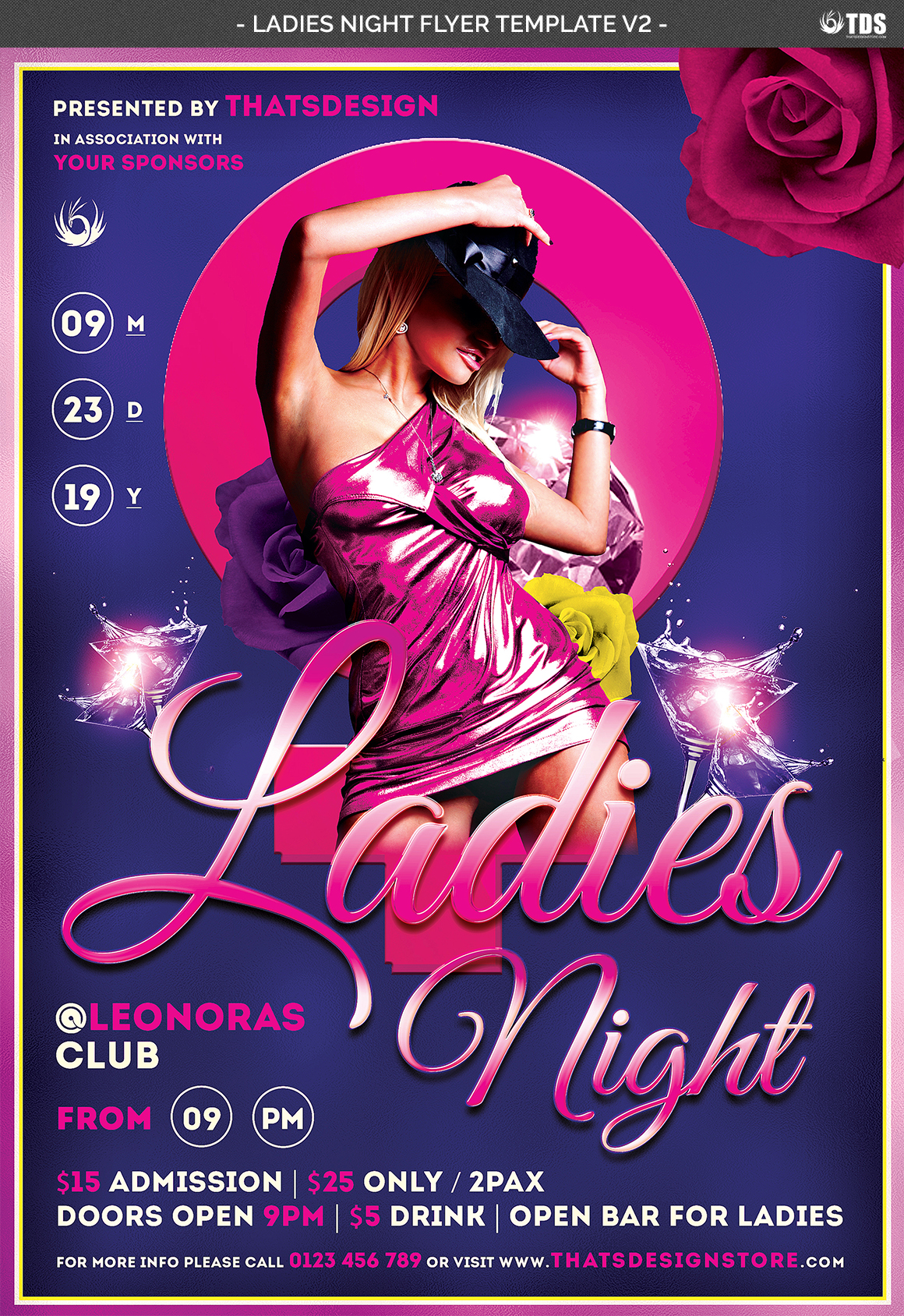 crummey letter template - ladies night flyer template v2 by tdsto design bundles