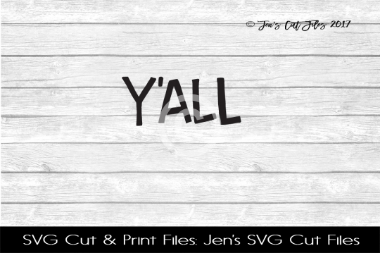 Yall SVG Cut File example image 1