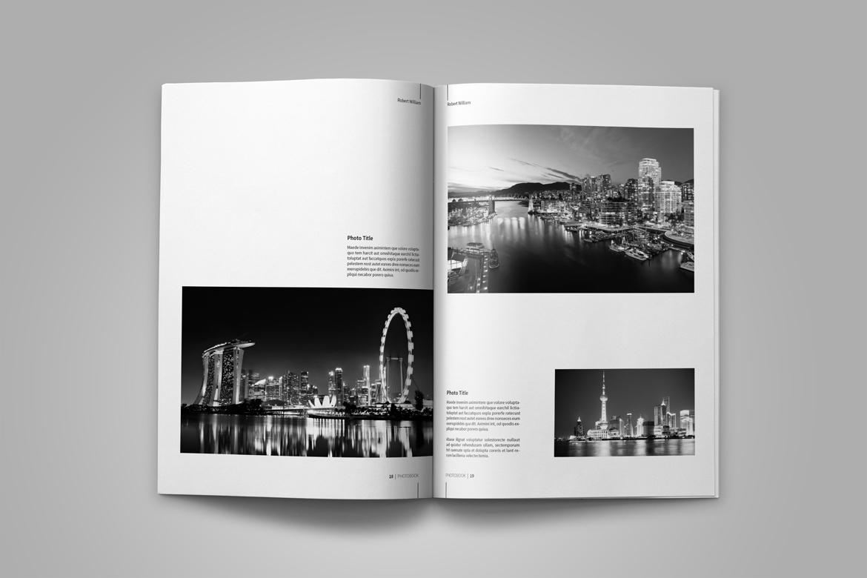 photography portfolio template by tujuh design bundles. Black Bedroom Furniture Sets. Home Design Ideas