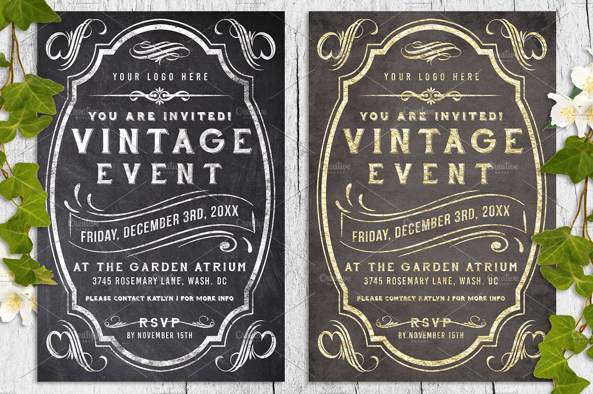 Massive Wedding Invite Bundle Flyer Save the Date Bridal Shower Party 60% Off example image 2
