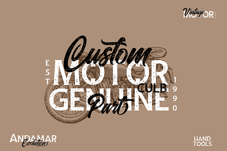 Andamar Font Family example image 6